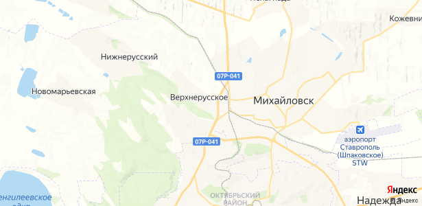 Верхнерусское на карте
