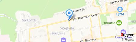 Крас на карте Ставрополя