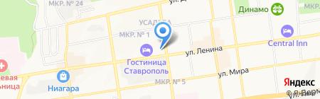 Пивнов на карте Ставрополя