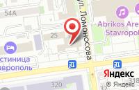 Схема проезда до компании Лик в Ставрополе