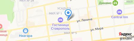 Пятигорское мороженое на карте Ставрополя