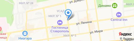Хоттабыч на карте Ставрополя