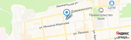 Комитет Ставропольского края по делам архивов на карте Ставрополя