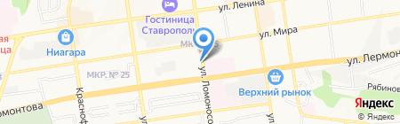 Барбарис на карте Ставрополя
