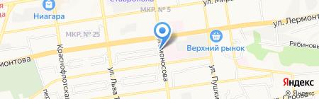 Торговый дом Зайцевых на карте Ставрополя