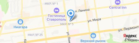 Салон ковров на карте Ставрополя