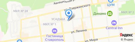 Общежитие на карте Ставрополя