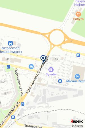 АВТОМАСТЕРСКАЯ ТЕХНОСЕРВИС на карте Невинномысска