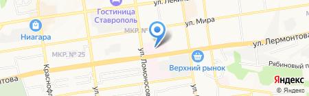 Консультативно-диагностическая поликлиника на карте Ставрополя