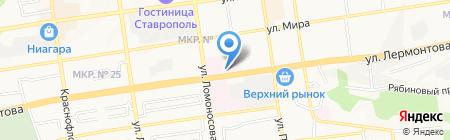 Храм Святых и Праведных Богоотец Иоакима и Анны родителей Пресвятой Богородицы на карте Ставрополя