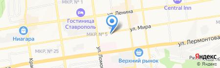 АК Барс Банк на карте Ставрополя