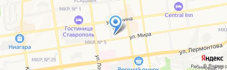 РУДН на карте Ставрополя