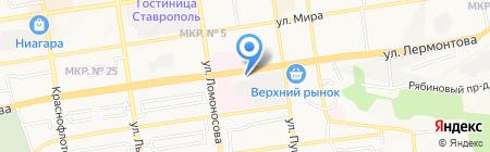 Уполномоченный при Губернаторе Ставропольского края по правам ребенка на карте Ставрополя
