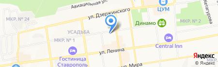 Всероссийское общество охраны памятников истории и культуры на карте Ставрополя