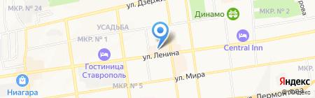 Лазурит на карте Ставрополя
