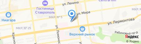 Детский сад №14 на карте Ставрополя