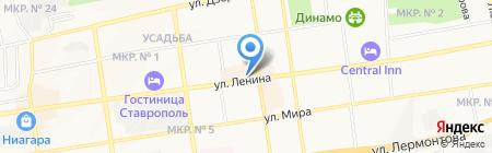 Киоск по продаже печатной продукции на карте Ставрополя