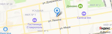 Ставрополь-ТУР на карте Ставрополя