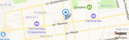 Проводник на карте Ставрополя