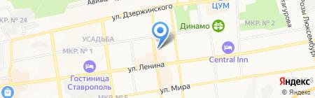 Подряд на карте Ставрополя