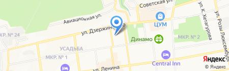 Территориальный орган Федеральной службы государственной статистики по Ставропольскому краю на карте Ставрополя