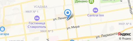 Раздолье на карте Ставрополя