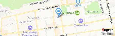 Стоматологическая поликлиника на карте Ставрополя