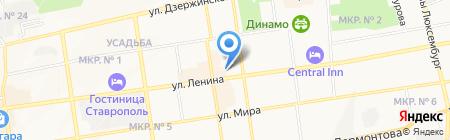 Банк УРАЛСИБ на карте Ставрополя
