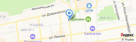 Театральное на карте Ставрополя