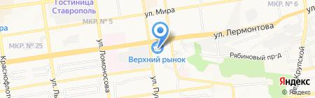 Боливар на карте Ставрополя