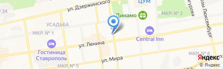 Европа на карте Ставрополя