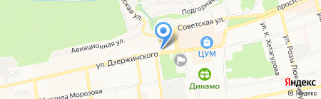 Бурлачок на карте Ставрополя