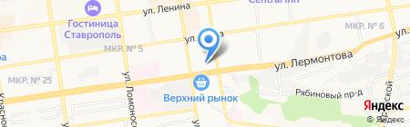Пожарная часть №7 на карте Ставрополя