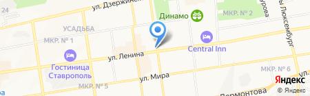 Юниаструм Банк на карте Ставрополя