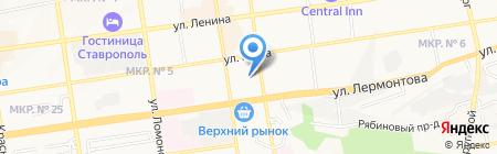 Территориальное управление Федеральной службы финансово-бюджетного надзора в Ставропольском крае на карте Ставрополя