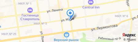 Нотариус Семина Т.В. на карте Ставрополя