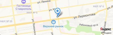 Телегазета на карте Ставрополя
