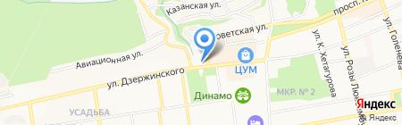 Лицей №5 на карте Ставрополя