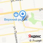 Центральный на карте Ставрополя