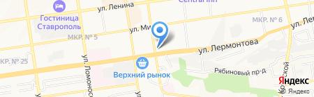 Спутник на карте Ставрополя