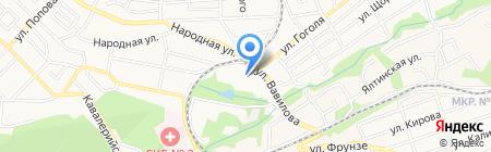 Спартак на карте Ставрополя