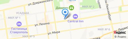 Горячие туры на карте Ставрополя