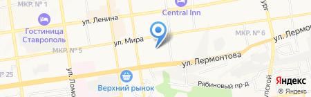 Вертикаль на карте Ставрополя