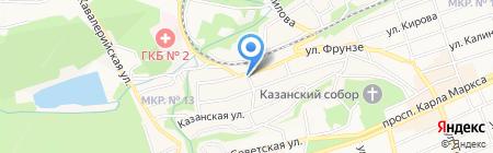 Подгорный на карте Ставрополя