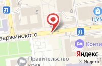 Схема проезда до компании Организатор в Ставрополе
