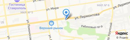 Холод-плюс на карте Ставрополя
