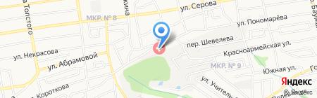 Детский травматологический пункт на карте Ставрополя