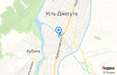 Местоположение на карте пункта техосмотра по адресу Респ Карачаево-Черкесская, г Усть-Джегута, ул Курортная, д 250