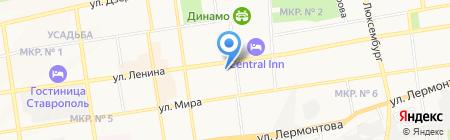 Ставропольский дворец детского творчества на карте Ставрополя