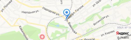 АЗС Лукойл-Югнефтепродукт на карте Ставрополя